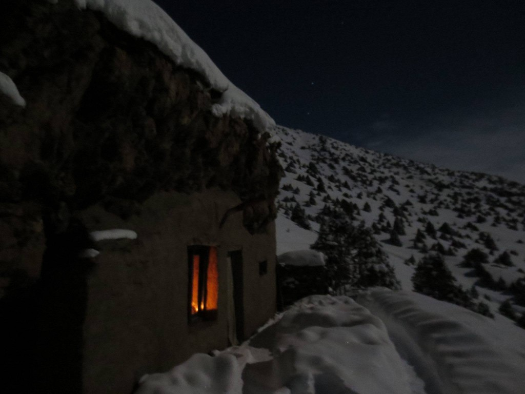 Tenzin Palmo's newly renovated cave in the Himalayas © Tsunma Kalden