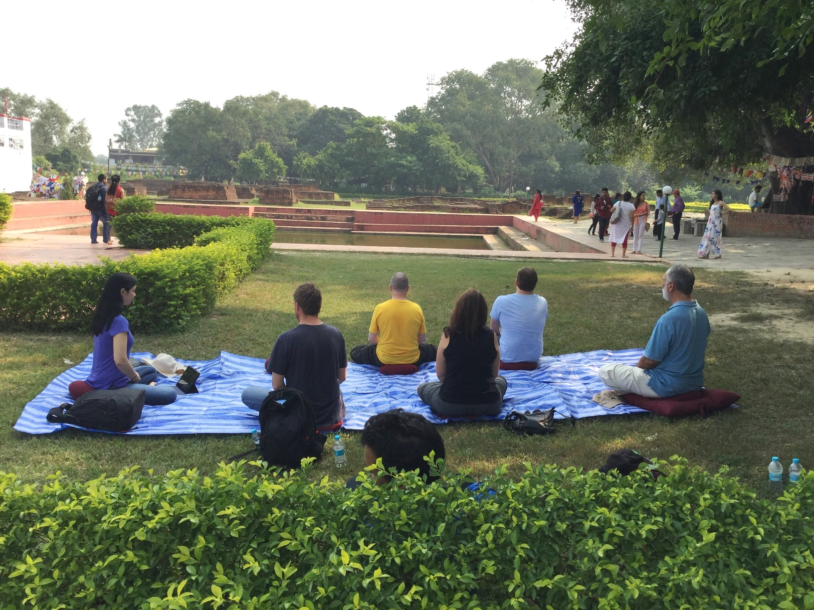 meditating in lumbini