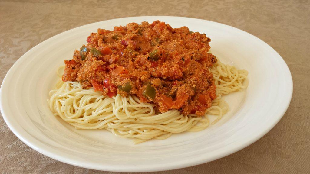 easy vegetarian spaghetti bolognese
